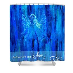 First Love Yourself Shower Curtain by The Art With A Heart By Charlotte Phillips