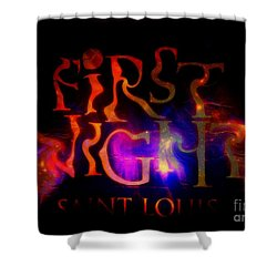 First Night Sign 2 Shower Curtain by Kelly Awad