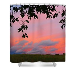 Shower Curtain featuring the photograph First October Sunset by Kathryn Meyer