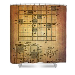 First Scrabble Game Board Patent From 1956  Shower Curtain
