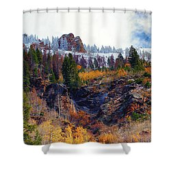 First Snow Shower Curtain by Brian Kerls