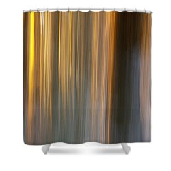 Shower Curtain featuring the photograph First Snow In Sunset by Davorin Mance