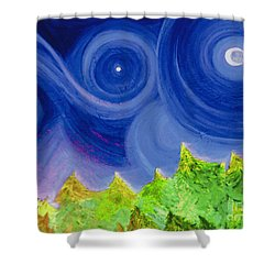 First Star By  Jrr Shower Curtain