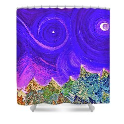 First Star Sunrise Shower Curtain by First Star Art