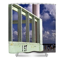 First Street Porch Shower Curtain
