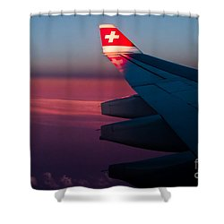 First Sunlight Shower Curtain by Syed Aqueel