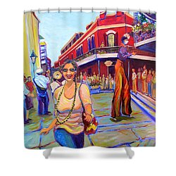 First Trip To New Orleans Shower Curtain by Jeanette Jarmon