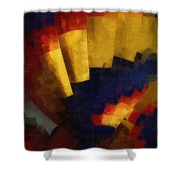 Shower Curtain featuring the digital art First Up by Kirt Tisdale