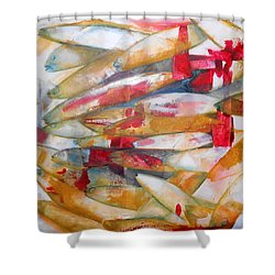 Fish 3 Shower Curtain by Danielle Nelisse