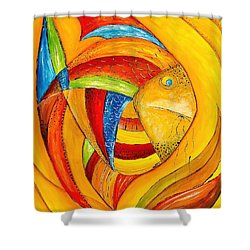 Fish 428-08-13 Marucii Shower Curtain