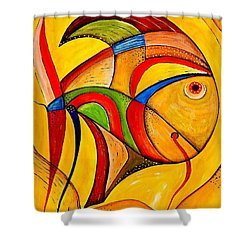 Fish 534-11-13 Marucii Shower Curtain
