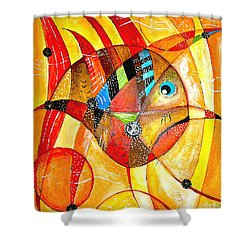 Fish 716-14 Marucii Shower Curtain