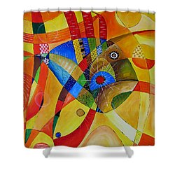 Fish 752 - Marucii Shower Curtain