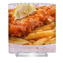 Fish And Chips Shower Curtain