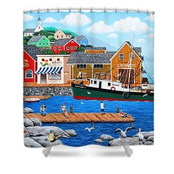 Fish And More Fish Shower Curtain by Wilfrido Limvalencia