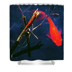 Shower Curtain featuring the photograph Fish Bubble by Faith Williams