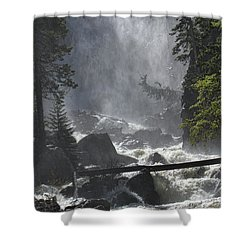 Shower Curtain featuring the photograph Fish Creek Mist by Don Schwartz