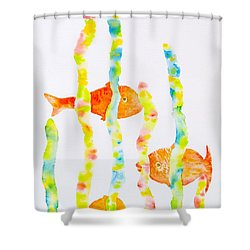 Shower Curtain featuring the painting Fish Fun by Michele Myers
