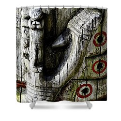 Fish Hook Shower Curtain by Cathy Mahnke