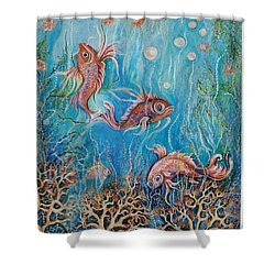 Fish In A Pond Shower Curtain