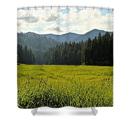 Fish Lake - Open Field Shower Curtain