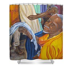 Fish Market  Shower Curtain by Carol Allen Anfinsen