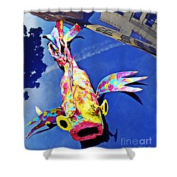 Fish Out Of Water Shower Curtain by Sarah Loft