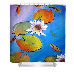 Fish Pond I Shower Curtain by Lil Taylor