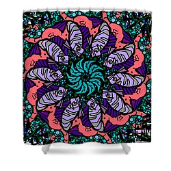 Shower Curtain featuring the digital art Fish / Seahorse by Elizabeth McTaggart