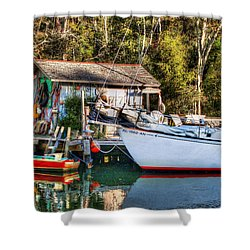 Fish Shack And Invictus Original Shower Curtain by Michael Thomas