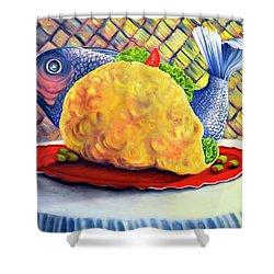 Fish Taco Shower Curtain