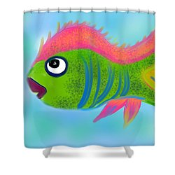 Shower Curtain featuring the digital art Fish Wish by Christine Fournier