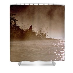 Fisher In The Mist Shower Curtain
