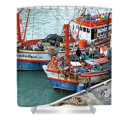 Shower Curtain featuring the photograph Fisherman by Andrea Anderegg