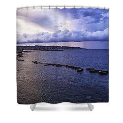 Fisherman - Sicily Shower Curtain by Madeline Ellis
