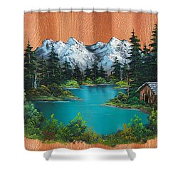 Fisherman's Cabin Shower Curtain by C Steele
