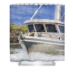 Fisherman's Prayer - West Coast Art Shower Curtain