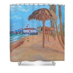 Fisherman's Resturant Shower Curtain
