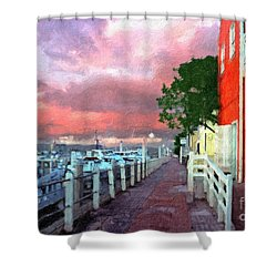 Shower Curtain featuring the photograph Fisherman's Village Marina Del Mar Ca by David Zanzinger