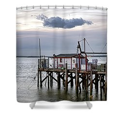 Fisherman's Wharf Evening Shower Curtain