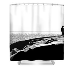 Fishers By The Sea Shower Curtain by Matthew Blum