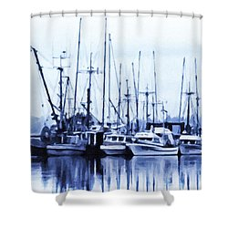 Fishers' Wharf Shower Curtain