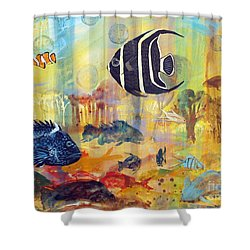Fishes Shower Curtain by Robin Maria Pedrero