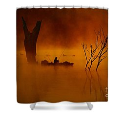 Fishing Among Nature Shower Curtain