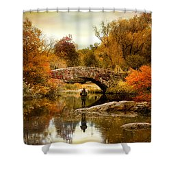 Shower Curtain featuring the photograph Fishing At Gapstow by Jessica Jenney