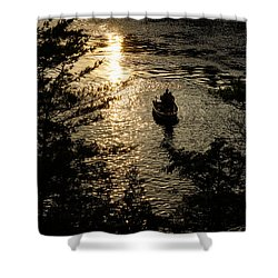 Fishing At Sunset - Thousand Islands Saint Lawrence River Shower Curtain