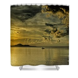 Fishing Before Dark Shower Curtain