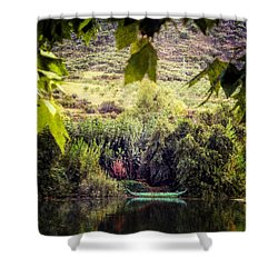 Fishing Boat On The River Douro Shower Curtain by Lynn Bolt
