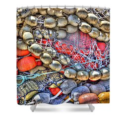 Fishing Bouys Shower Curtain by Heidi Smith