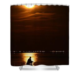 Fishing By Moonlight01 Shower Curtain